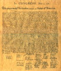 An analysis of the paper using jeffersons declaration of independence