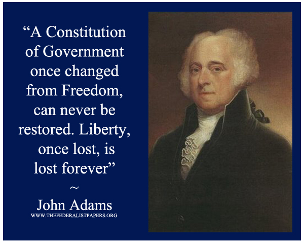 John Adams, Poster, Liberty once lost can never be reclaimed