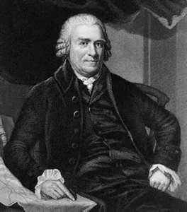 Governor Samuel Adams sitting in a chair