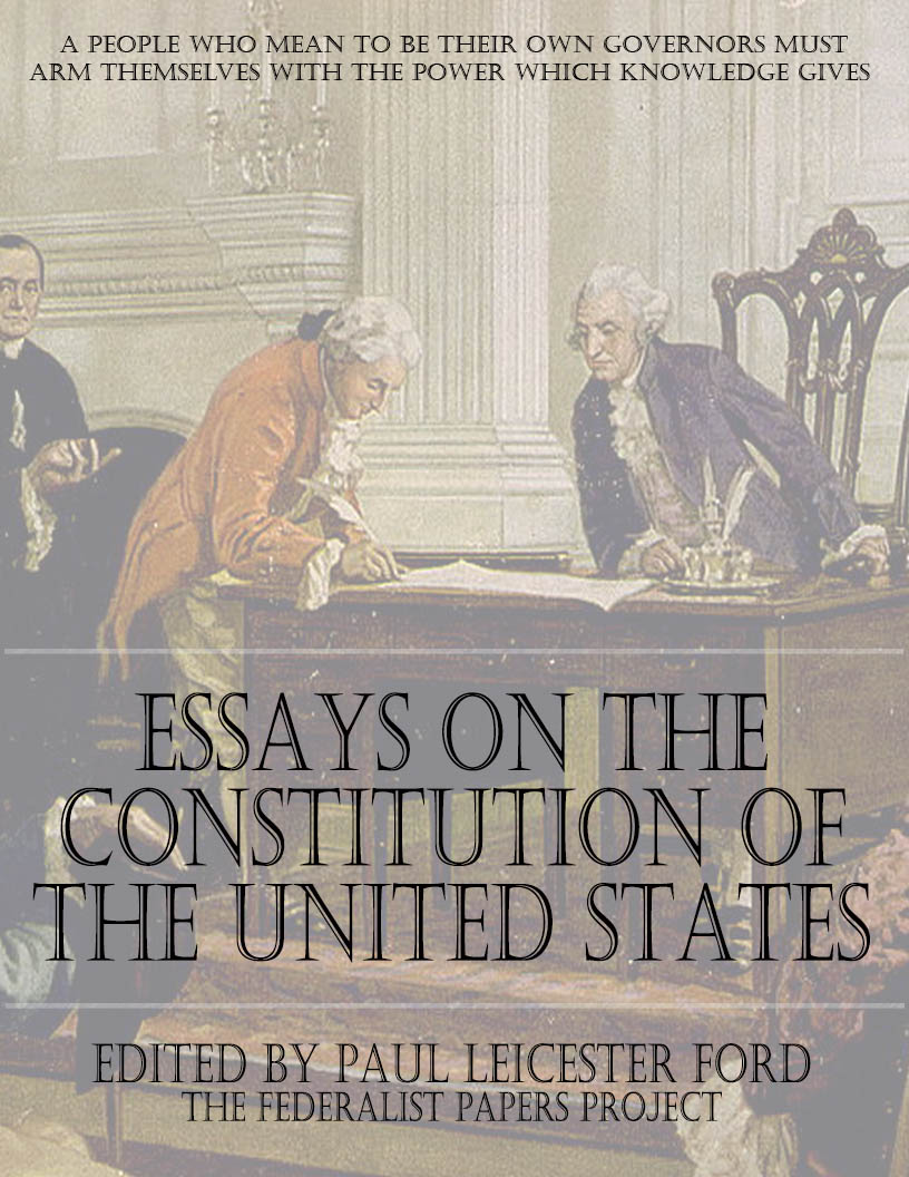 constitutional essay The president's authority over foreign affairs: an essay in constitutional  interpretation (9780890894668) authors: h jefferson powell carolina  academic.