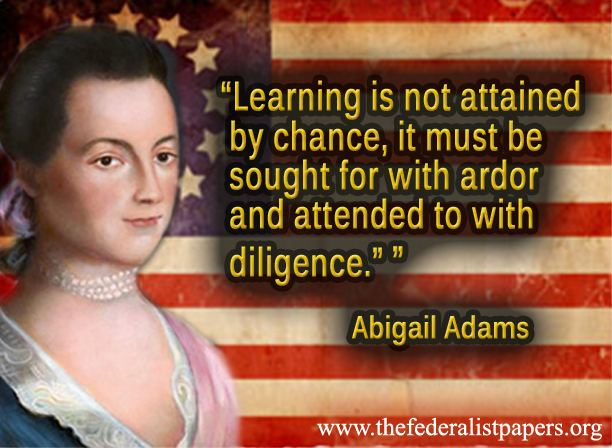 essay on abigail adams A fervent patriot and brilliant intellectual, adams served as a delegate from   after his term as president, john adams lived a quiet life with abigail on the  family.