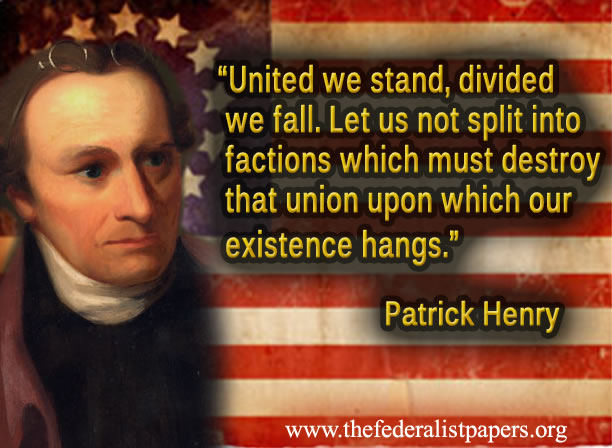 President George Washington warns against political divisiveness