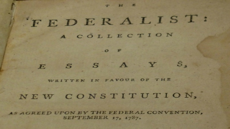 the federalist paper Known as the federalist papers, the first in a series of eighty-five essays by publius, the pen name of alexander hamilton, james madison, and john jay, appeared in the new york independent journal on october 27, 1787.
